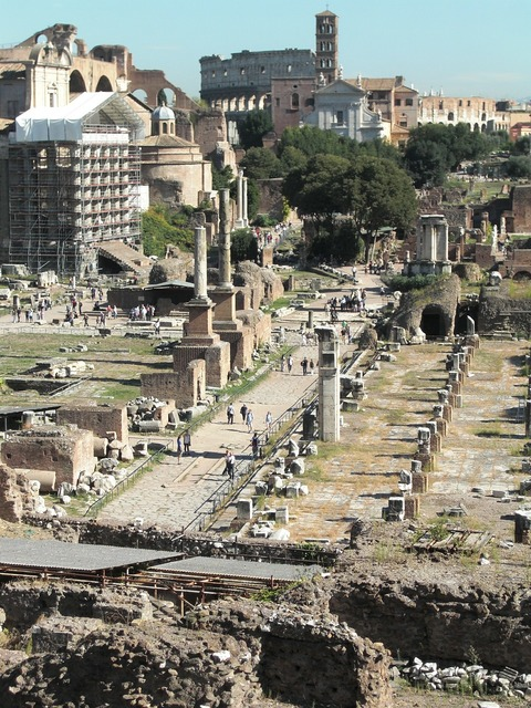 Forum rome italy, architecture buildings.