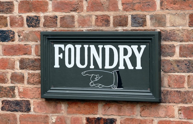 Foundry factory metal, industry craft.