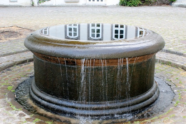 Fountain castle gifhorn, architecture buildings.