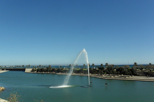 Fountain park sea, travel vacation.