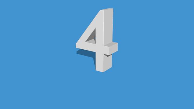 Four number shape, education.