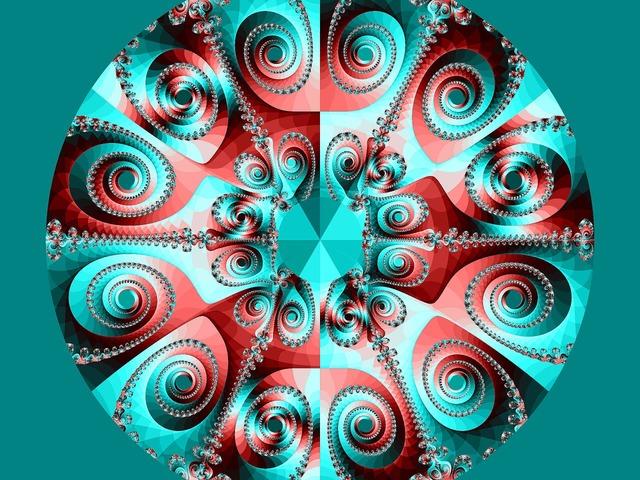 Fractal art design colorful.