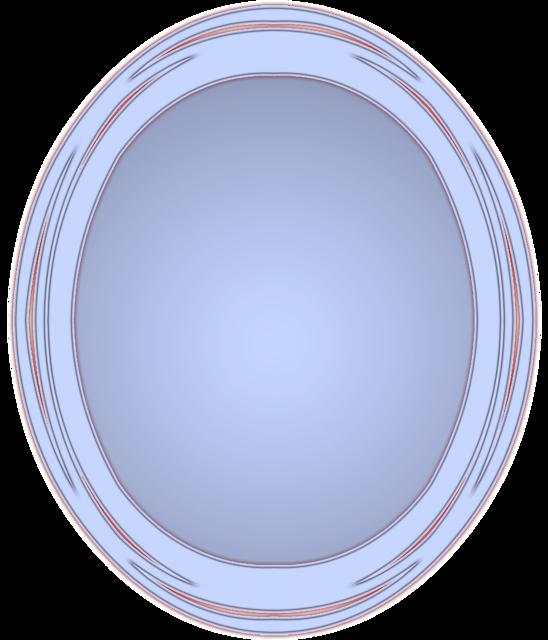 Frame photo frame oval.