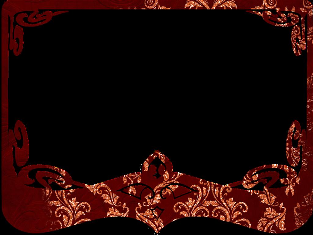 Frame red decorative.