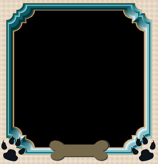 Frame scrapbook dog frame, industry craft.