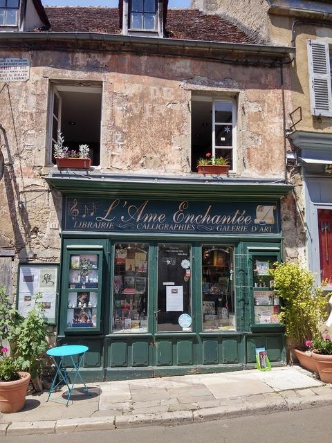 France bookshop old house, architecture buildings.
