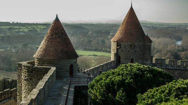 France carcassonne medieval city.