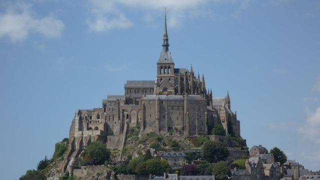 France le mont saint michel normandy.