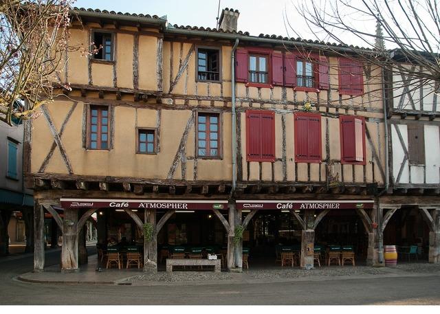 France mirepoix medieval village.