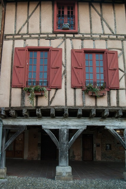 France mirepoix timbered houses.