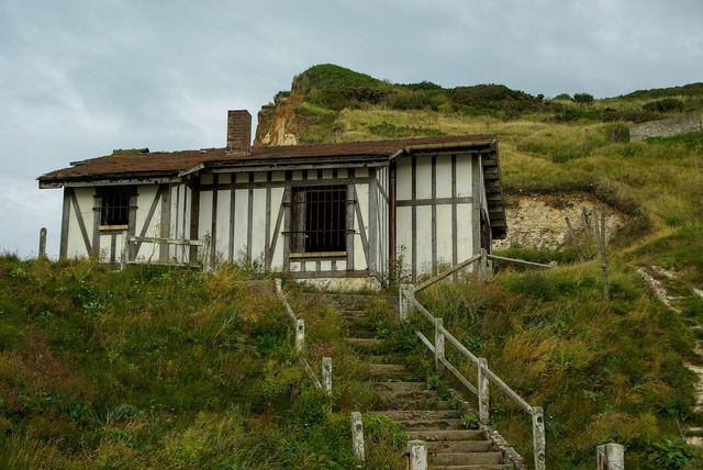 France normandy cliffs, architecture buildings.
