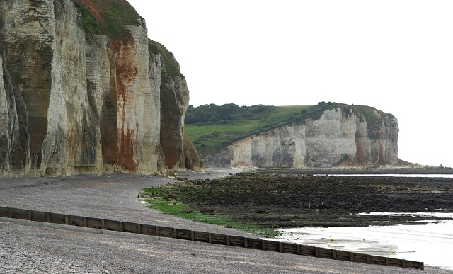 France normandy cliffs, travel vacation.