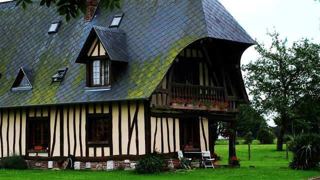 France normandy house, architecture buildings.