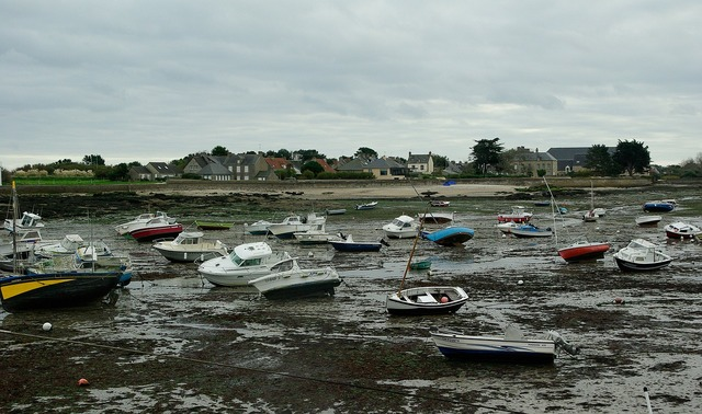 France normandy low tide.