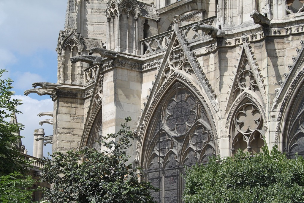 France paris cathedral, places monuments.
