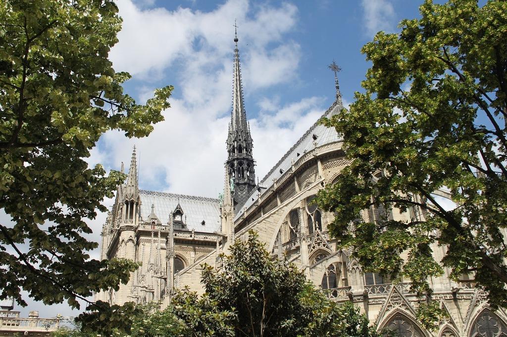 France paris notre dame, architecture buildings.