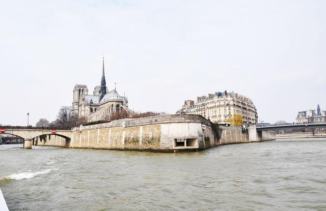 France paris the river seine.