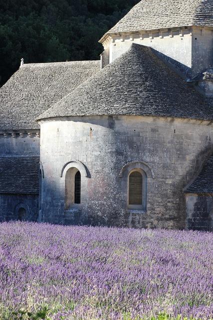 France provence lavender, architecture buildings.