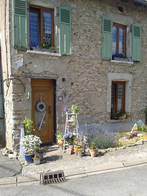 France stone house provence, architecture buildings.
