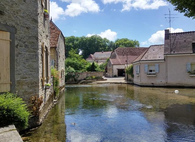 France village middle ages, architecture buildings.