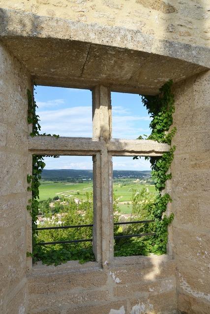 France window south.