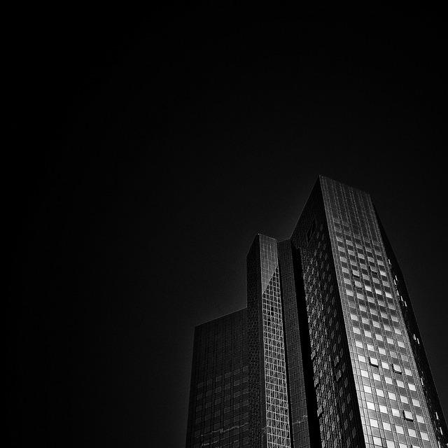 Frankfurt deutsche bank skyline, architecture buildings.