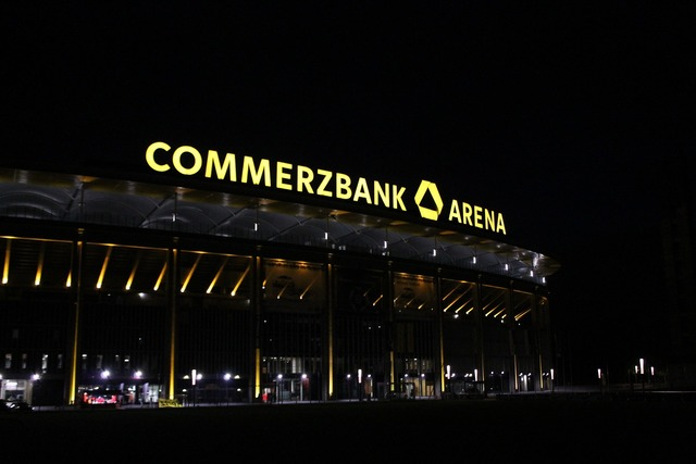 Frankfurt football stadium, sports.