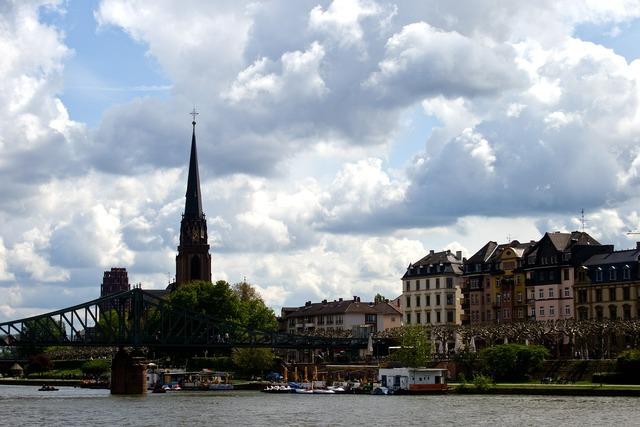 Frankfurt main skyline.