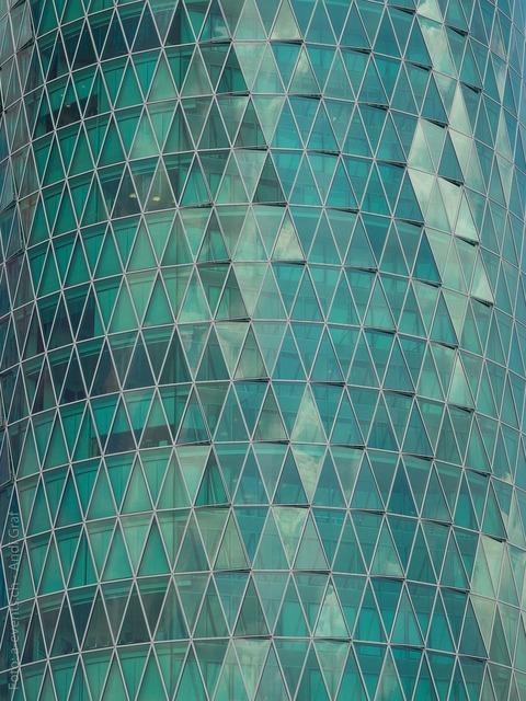 Frankfurt office building facade, architecture buildings.