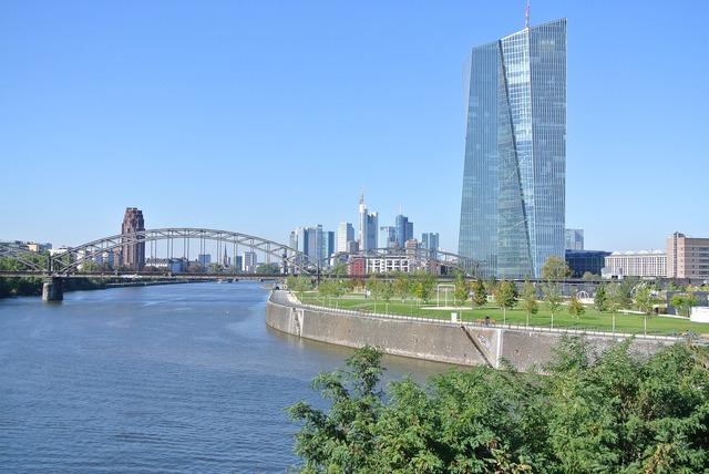 Frankfurt skyline ecb frankfurt.