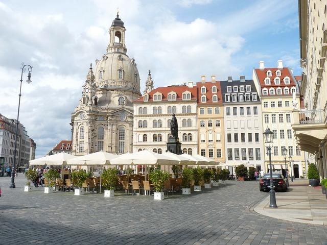 Frauenkirche dresden neumarkt germany.