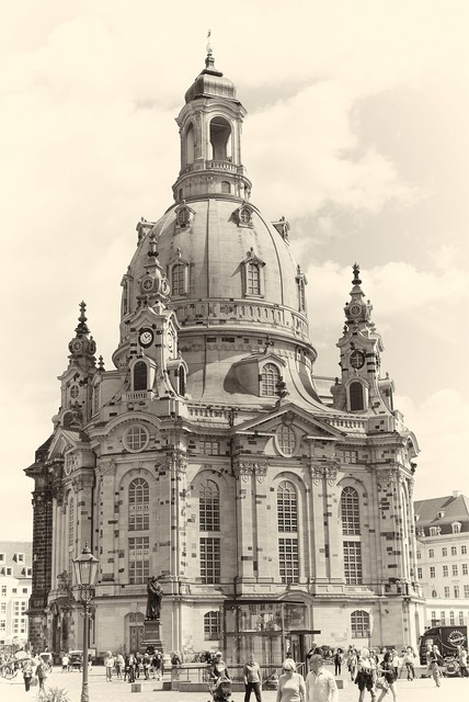 Frauenkirche dresden places of interest, architecture buildings.