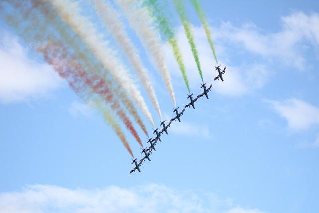 Frecce tricolori aircraft planes.