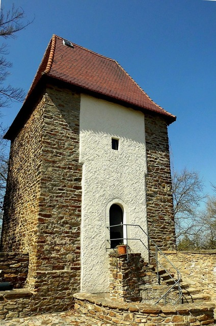 Freiberg mountain town city wall, architecture buildings.