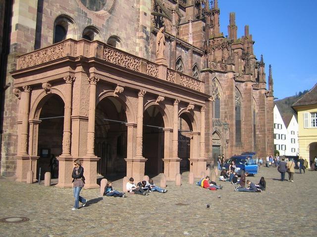 Freiburg cathedral square breisgau.