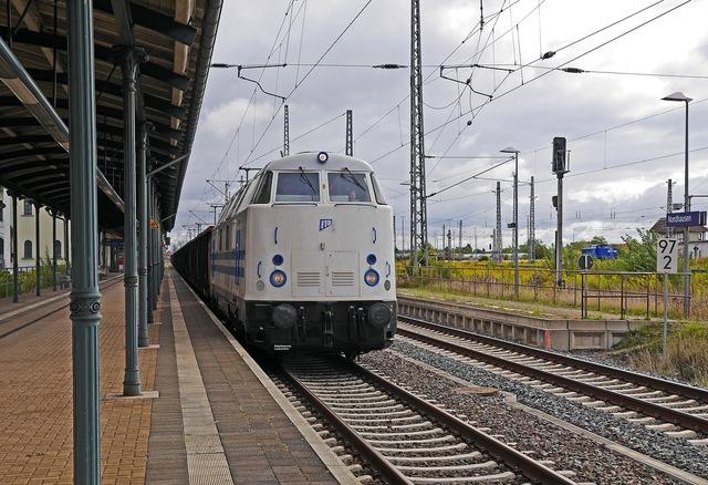 Freight train private railway station transit, transportation traffic.
