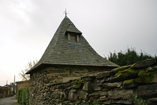 French pigeonnier folly slated roof.