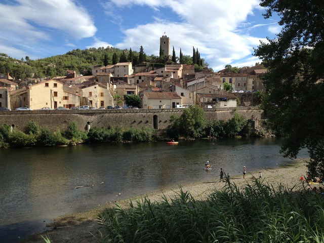 French village river french, travel vacation.