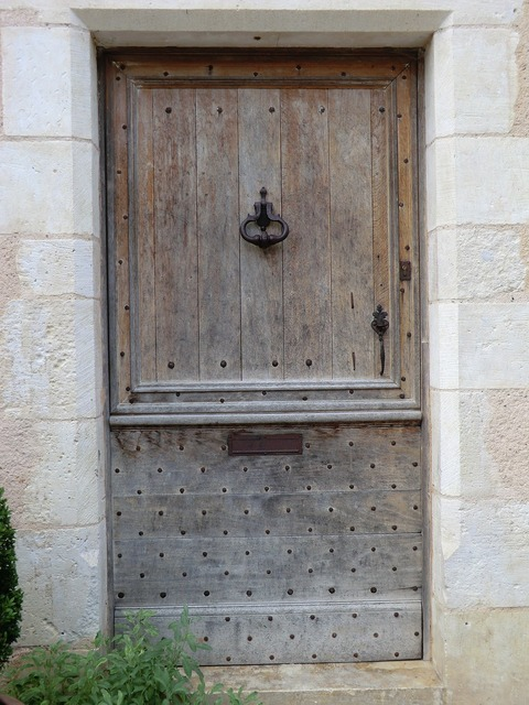 French wooden door.