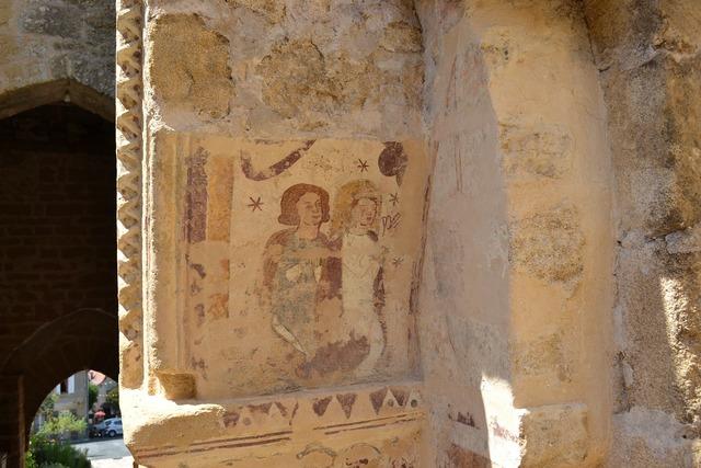 Fresco wall church, religion.