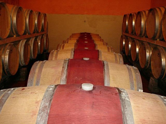 Frescobaldi castelgiocondo wine cellar.
