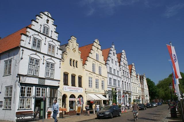 Friedrichstadt nordfriesland north sea.