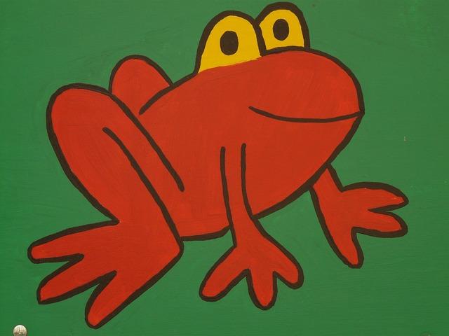 Frog cartoon character drawing, animals.