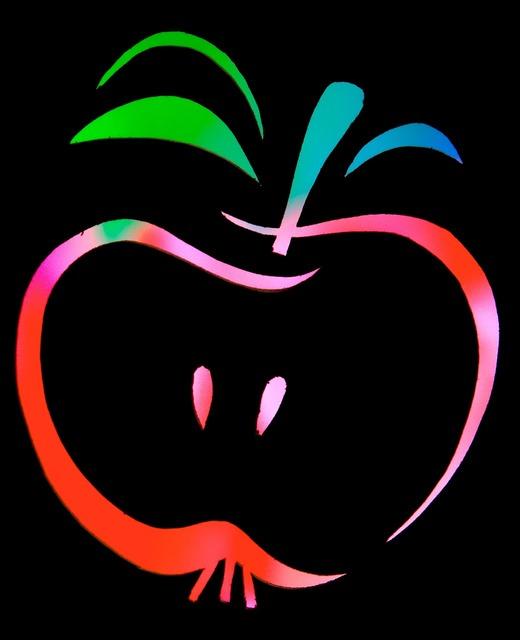 Fruit apple color, food drink.