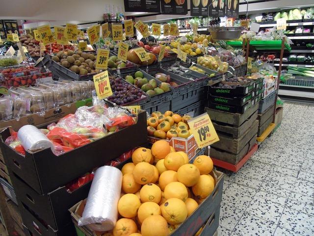 Fruit shop eco, food drink.