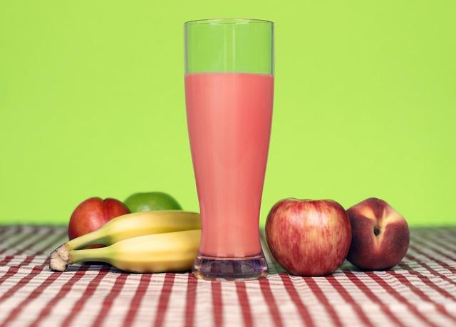Fruit smoothie shake, food drink.