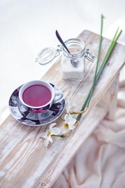 Fruit tea flowers, food drink.