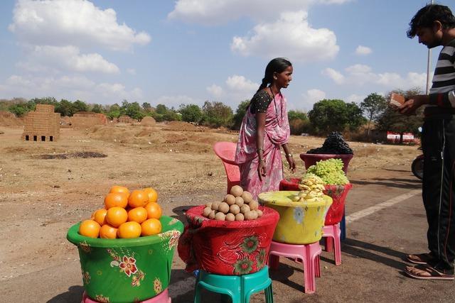 Fruit vendor dharwad india, food drink.