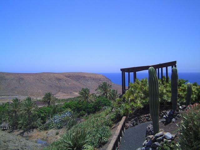 Fuerteventura sky blue, nature landscapes.