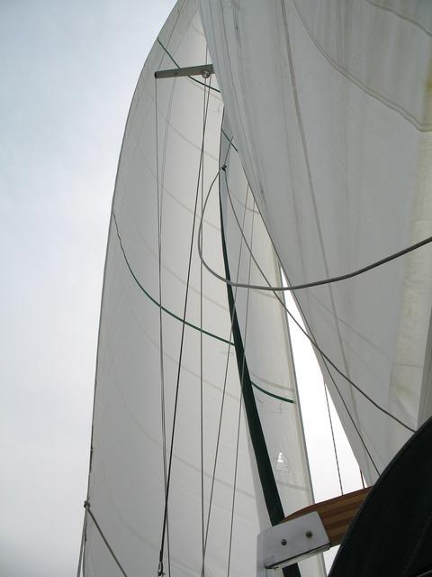Full sail boat ship, transportation traffic.